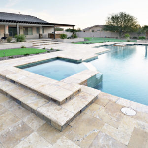 Antique travertine outdoor tiles non slip