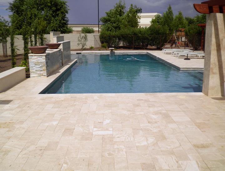 pool deck travertine pavers or pool deck