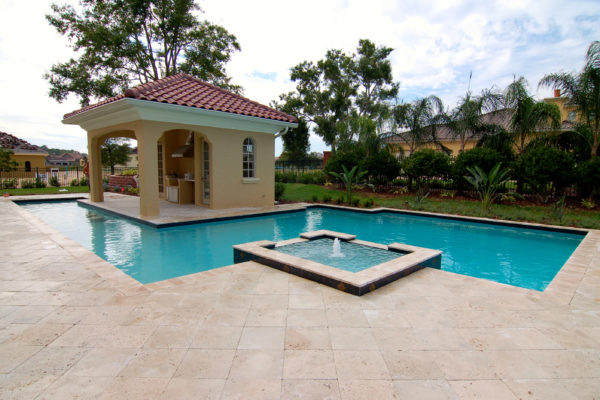 Ivory outdoor tiles and pool pavers