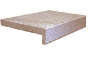 Noce Travertine pool coping paver drop face