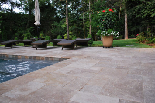 Noce pool coping and paving tiles