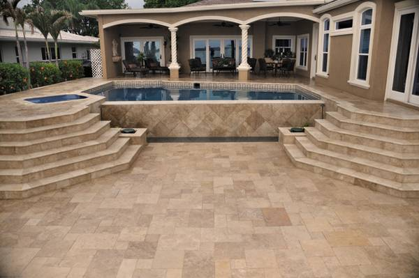 Outdoor pavers noce travertine
