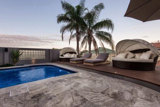 Silver travertine pool tiles (2)