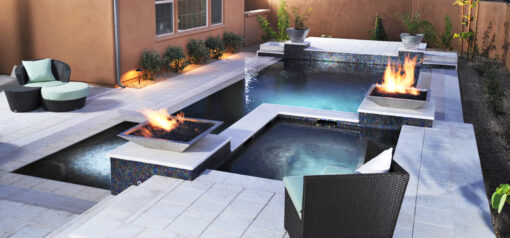 White Travertine Pool Coping Tiles and non slip Pavers FOR SLIDER