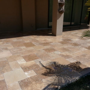 outdoor pavers in noce travertine non slip pavers