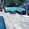 pool tiles and pavers in non slip silver travertine