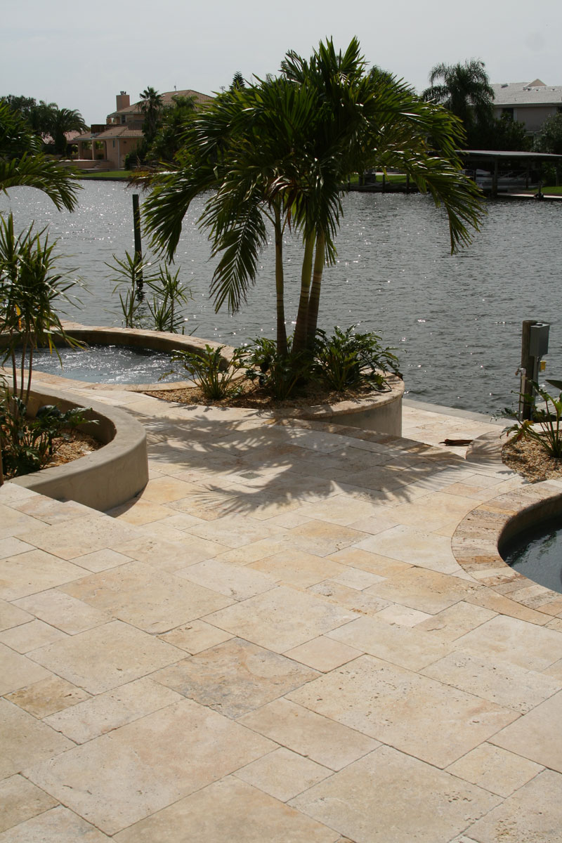 travertine tiles pool paving and coping