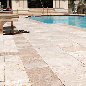 Classic Travertine Bullnose Pool Coping