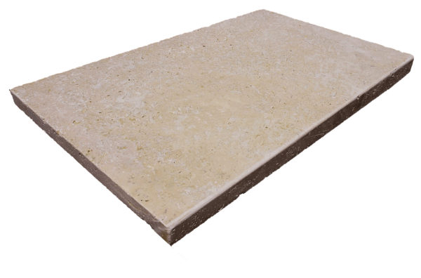 Antique Travertine Tumbled Edge Pool Coping