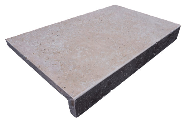 TRAVERTINE DROP FACE POOL COPING TILE