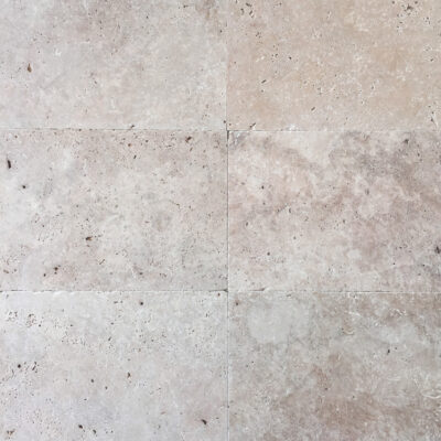 Ivory Travertine 610x406x12mm unfilled and brushed surface