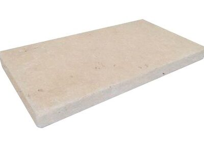 Ivory travertine tumbled pool coping paver