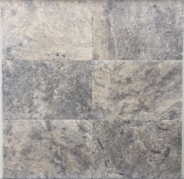 Silver Travertine Tumbled and Unfilled