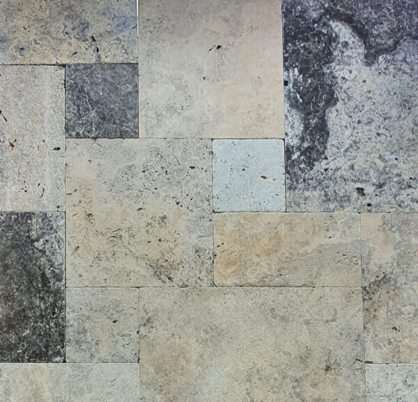 Oyster Silver Travertine Pavers