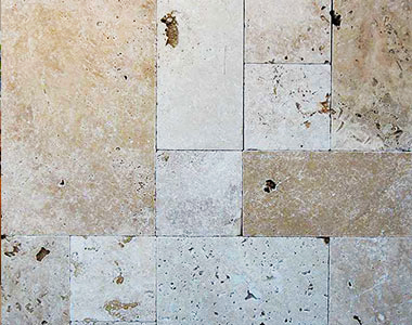 Rustica French Pattern Travertine Pavers